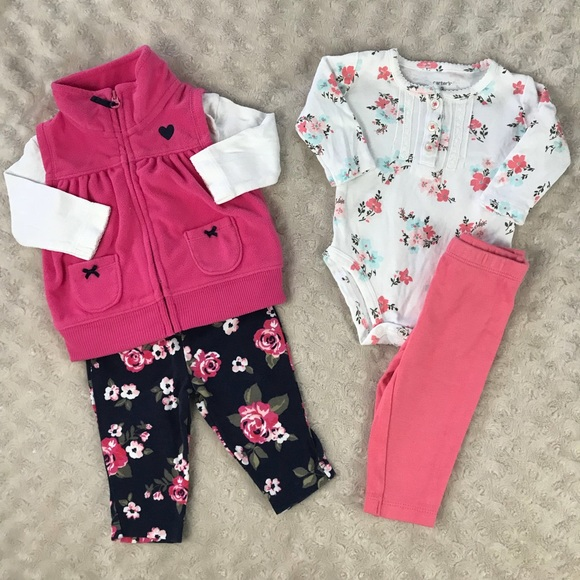 df76d1957 Carter's Matching Sets | Carters Baby Girl Outfit Bundle Floral ...